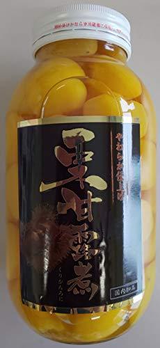 国内加工 一級品 栗甘露煮 1100g (固形650g)×1本(本約40-60粒)激安 業務用 限定品