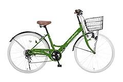 voldy.collection 自転車 26インチ折りたたみシティサイクル VFC-001 グリーンxホワイト
