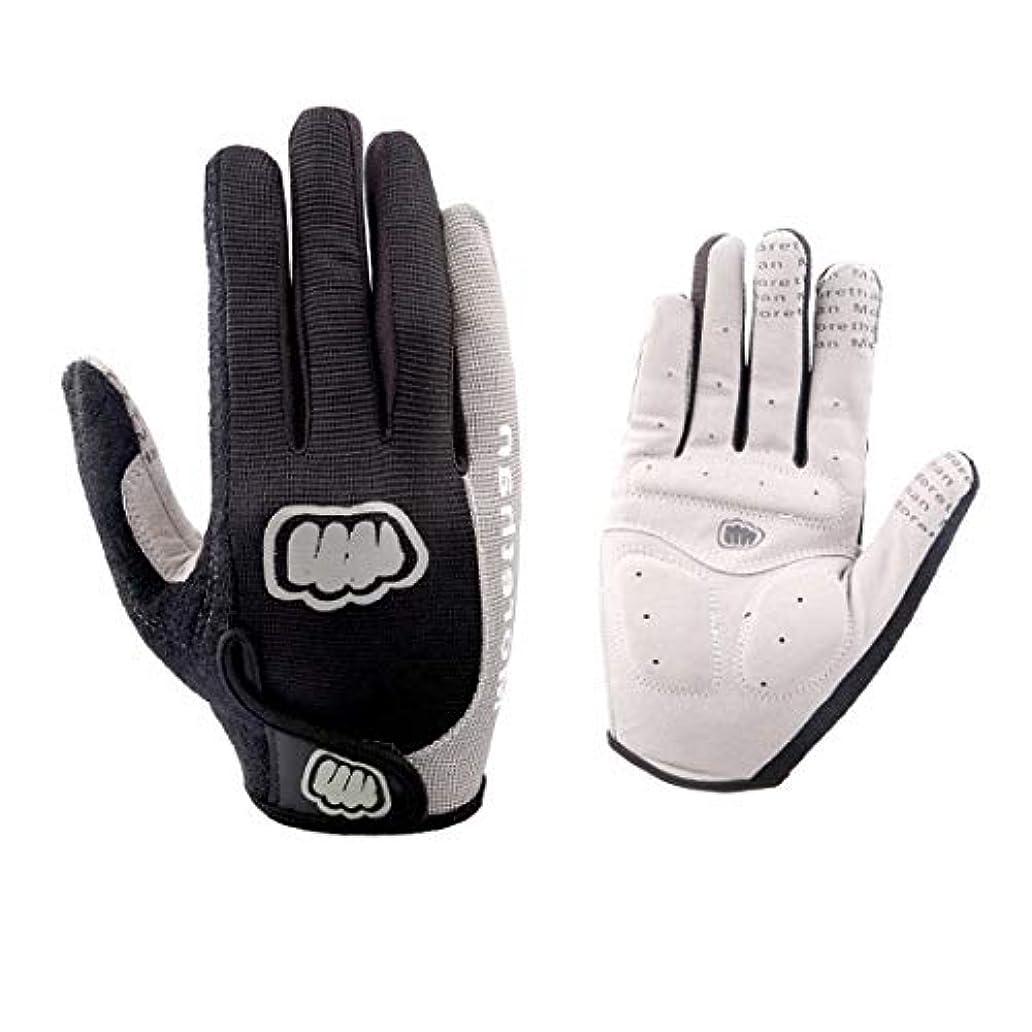 うま義務づける延ばすKerwinner フルフィンガーハーフフィンガーショートライディングバイキンググローブ作業用手袋ウェイトリフティンググローブ、男性用&女性用ジムグローブ (Color : Grey-1)