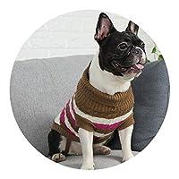 犬 服 秋 服 犬 ペット 猫 冬 服 チワワ 星 兄弟 セーター,セーターコルゲートブルー,XS号