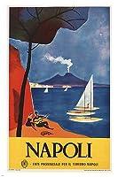 ヴィンテージナポリ旅行ポスターイタリア1960美しい海辺24X36 [並行輸入品]
