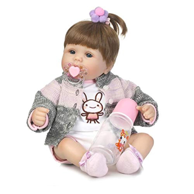 40センチ布ボディソフトシリコーンビニール赤ちゃん人形リアルな新生児赤ちゃん人形のおもちゃ生まれ変わった赤ちゃん人形プレイメイトギフト生きているおもちゃ人形 - カラフル-1サイズ
