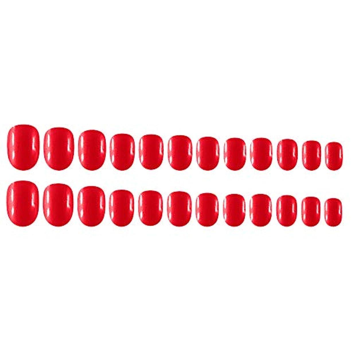かかわらずロール真向こうDecdeal Decdeal ネイルチップ 24ピース 12異なるサイズ diy サロン ネイルアートツール 偽