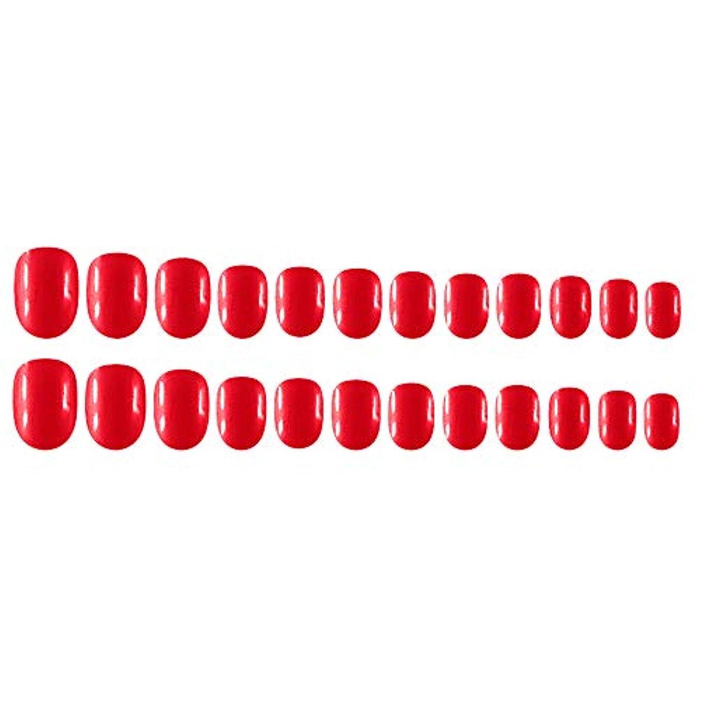 ノミネート反対したマダムDecdeal Decdeal ネイルチップ 24ピース 12異なるサイズ diy サロン ネイルアートツール 偽