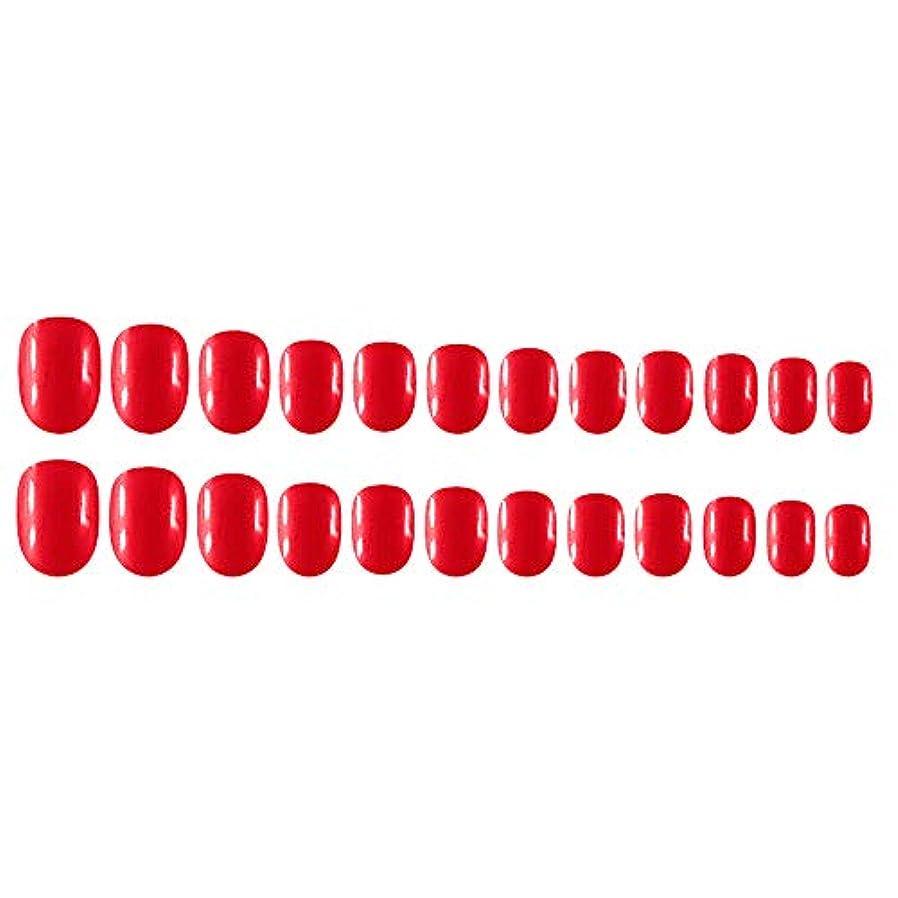 書道付き添い人リズミカルなDecdeal Decdeal ネイルチップ 24ピース 12異なるサイズ diy サロン ネイルアートツール 偽
