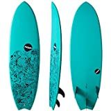 NSP ELEMENTS FISH SURFBOARD | FINS INCLUDED | DURABLE ALL AROUND FISH SURF BOARD