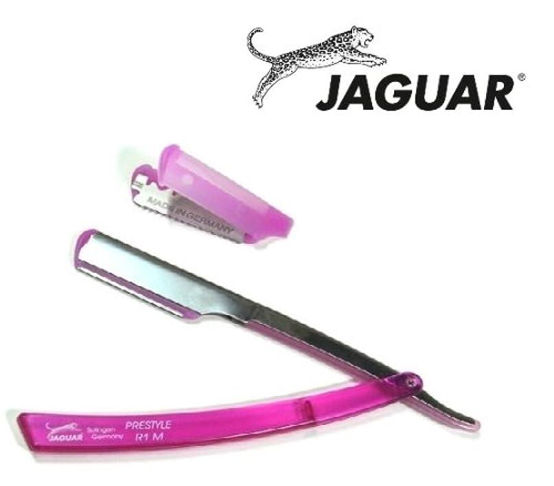 組み立てる提唱する練るゾーリンゲン(独)ジャガー フェイスカミソリ 替刃巾39.4mm10枚付(20枚相当)プラチナステンレス ピンク