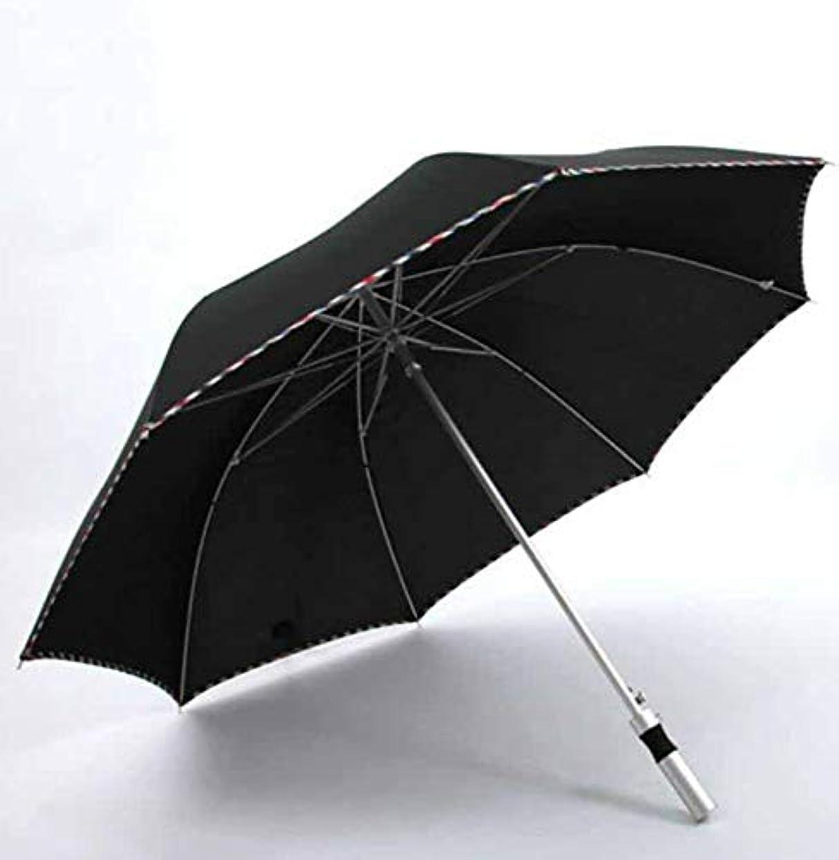 乱気流最大写真撮影Chuangshengnet 反傘日傘を運ぶのが簡単な傘アルミ傘軽量 (Color : ブラック)