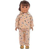 HuaQingPiJu-JP 18インチアメリカ人形パジャマ(カラフル)