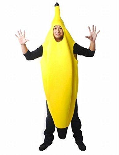 【 面白 バナナマン ハロウィン コスプレ 着ぐるみ 大人用 (L XL サイズ より) 】 バナナ バナナスーツ イベント パーティー 余興 舞台 学園祭 販促 コスチューム 衣装 仮装 黄色 イエロー Halloween banana 果物 メンズ レディース 男女兼用 大人用 【HAPPINESSMAILE】 (L)