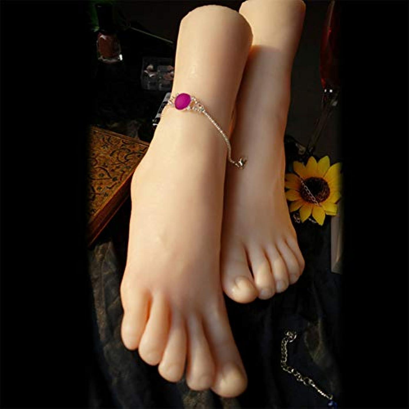 誘導枕独立した1ペアのLifeSizeシリコーン女性のマネキンフットディスプレイJewerlyサンダル靴ソックス表示アートスケッチ