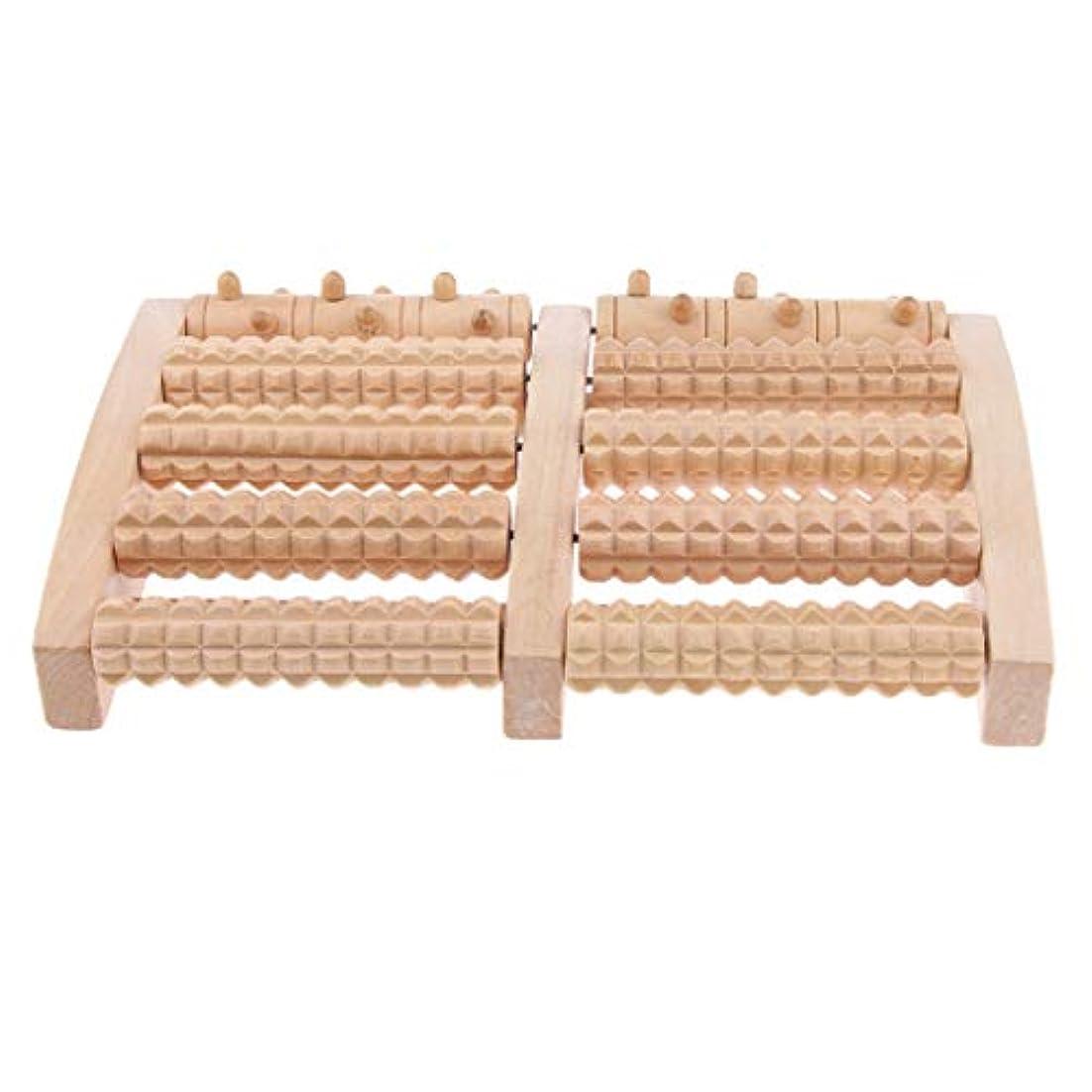 D DOLITY マッサージローラー 工芸 自然木製 足踏み フットローラー ツボ押し リラックス 健康器具 2種選ぶ - 約27x16.4x3.8cm, 27cm