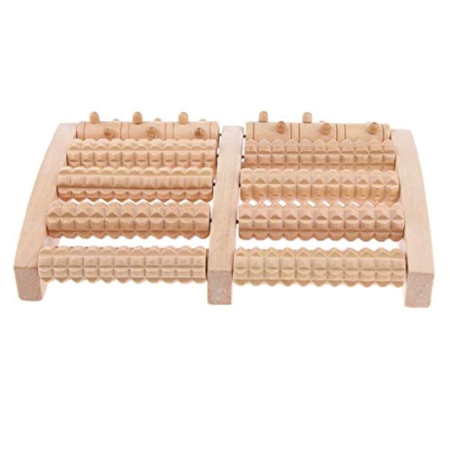 おもしろい認識ハシーD DOLITY マッサージローラー 工芸 自然木製 足踏み フットローラー ツボ押し リラックス 健康器具 2種選ぶ - 約27x16.4x3.8cm, 27cm