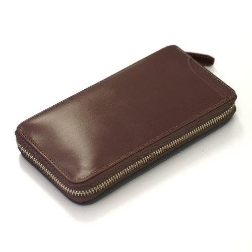 (ミラグロ) Milagro BTWL09 英国産ブライドルレザー ラウンドファスナー ギャルソン ウォレット メンズ 長財布 BOX [本革][BESPOKE ビスポーク] (バーガンディ)