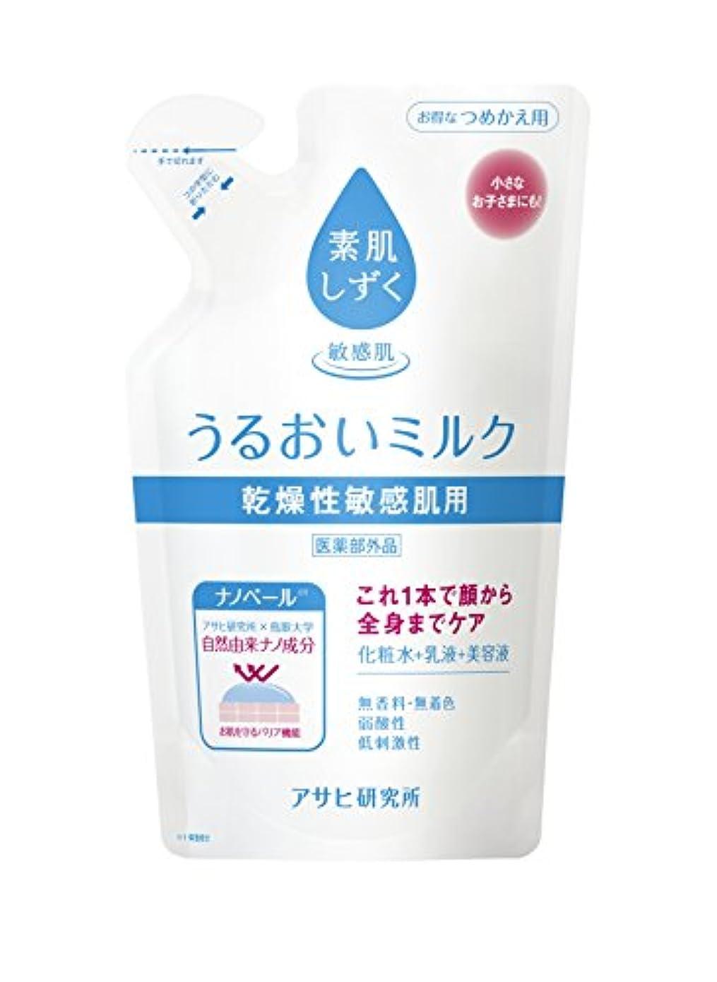適用済み不屈大騒ぎ素肌しずく うるおいミルク 詰替 160ml