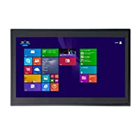 14 Inch 2MM Embedded IP54 Industrial Panel PC,All in One Computer,10 Points Capacitive Touch,Windows 7/10,Linux,Intel Core I5,(Black),[HUNSN WD09],[2RS232/VGA/HDMI/LAN/4USB2],(8G RAM/240G SSD/1TB HDD)