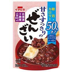 イチビキ 甘さすっきりの糖質・カロリー50%オフぜんざい 160g×20(10×2)袋入×(2ケース)