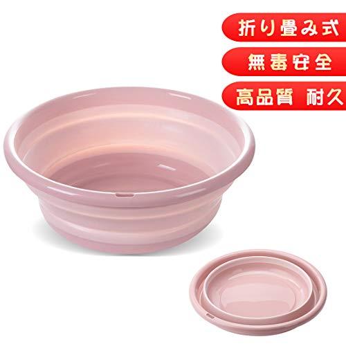RoomClip商品情報 - RULAYMAN バケツ 折りたたみ 洗い桶 たらい 洗面器 シリコン キッチン 風呂 足浴 掃除 4色 (ピンク, M)