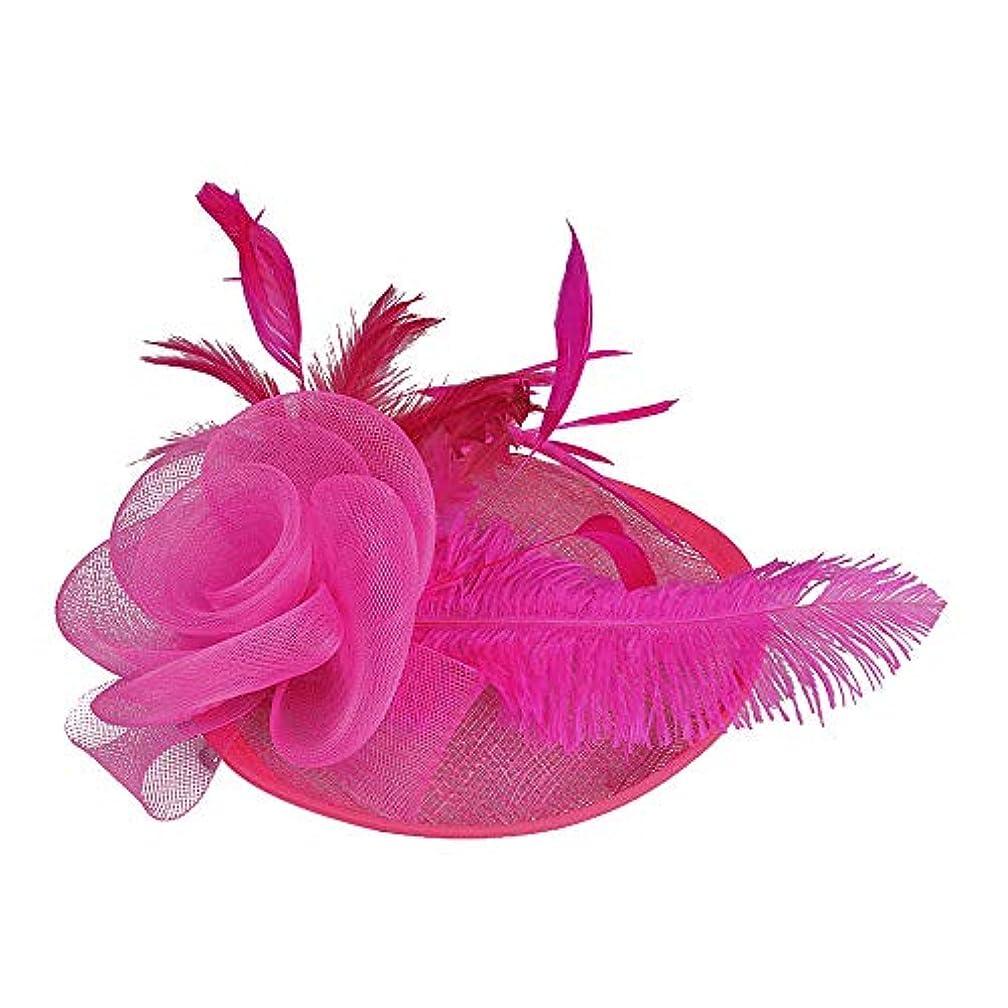 ライフル被害者それらMerssavo 英国スタイルのブライダルハット、女性エレガントな花の羽のベールの帽子ヴィンテージリネンティアラヘアアクセサリードレス帽子、6#