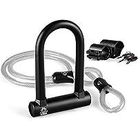 インバイク(INBIKE) 自転車U字ロック&ストッピングワイヤーセット 高硬度 高切断対抗