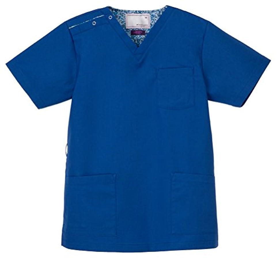 新聞驚き適用する医療向け 男女兼用スクラブ ロイヤルブルー サイズ:M LBL-4372 ナガイレーベン