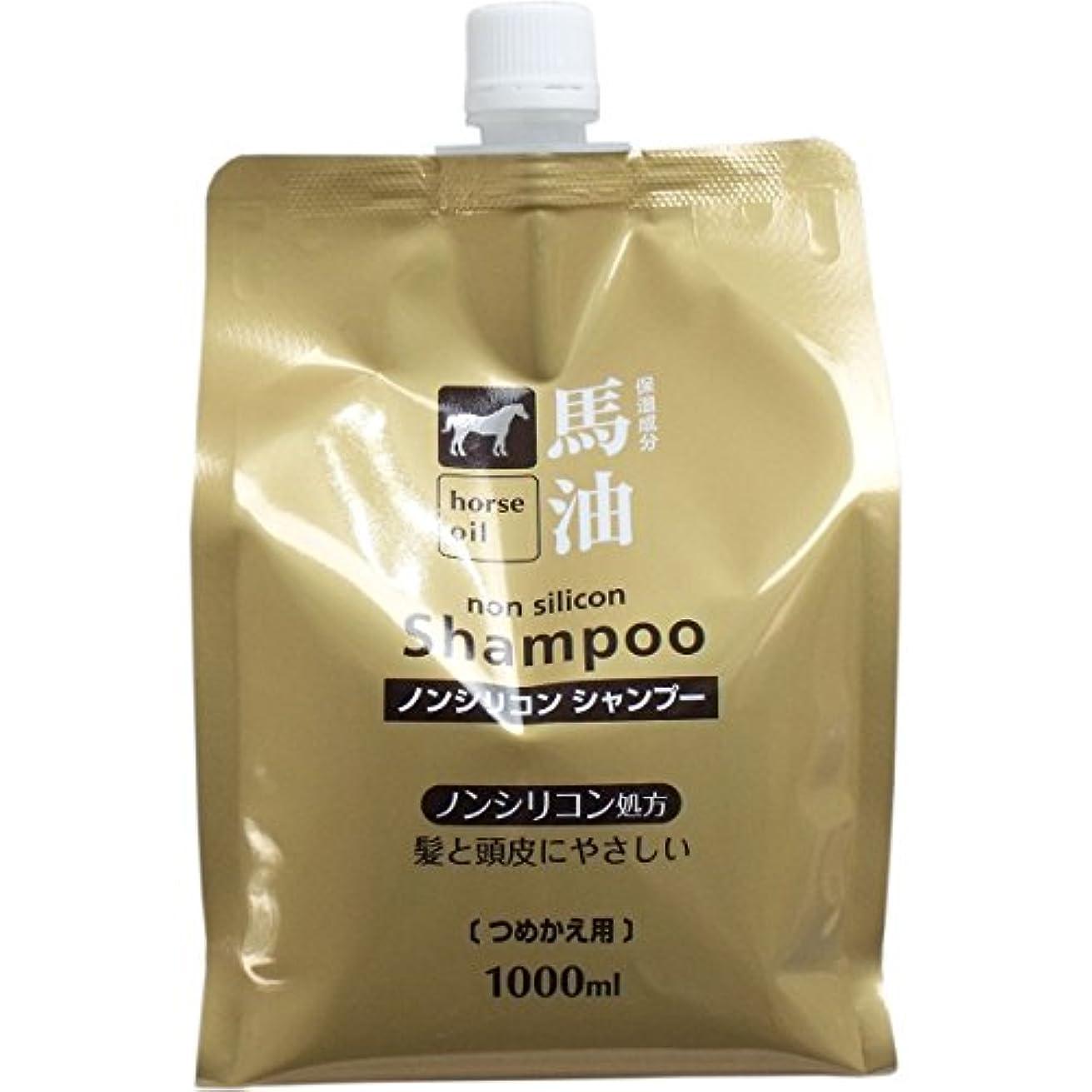 パネルハリケーン大腿熊野油脂 馬油シャンプー 詰め替え用 1000ml × 3個
