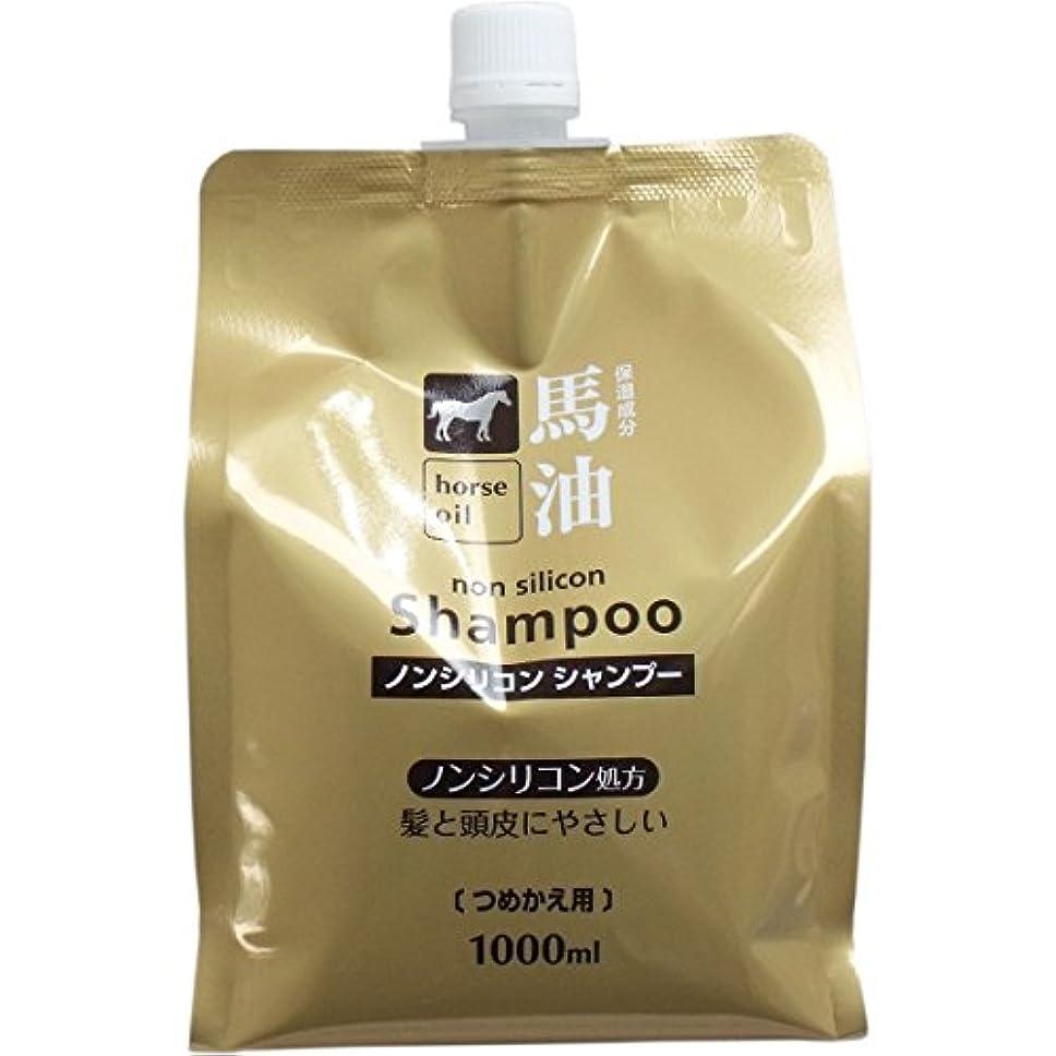 ジャンクション提唱する処方する熊野油脂 馬油シャンプー 詰め替え用 1000ml × 5個