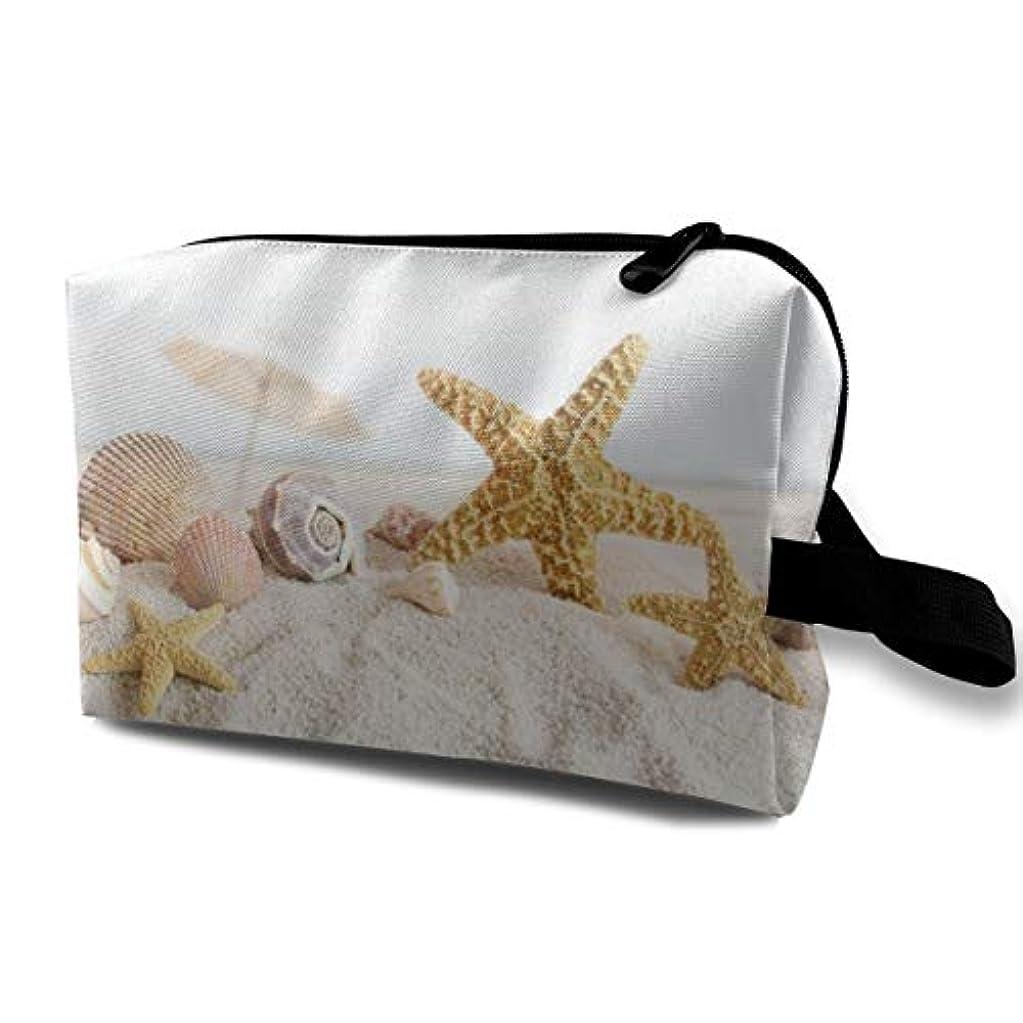 医療過誤欠伸断片Starfish Beach Theme 収納ポーチ 化粧ポーチ 大容量 軽量 耐久性 ハンドル付持ち運び便利。入れ 自宅・出張・旅行・アウトドア撮影などに対応。メンズ レディース トラベルグッズ