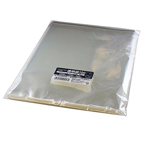 RoomClip商品情報 - 【パッケージランド】 A4 透明封筒 (テープ付き)  100枚 厚み30ミクロン 225×310+40mm T3225310_1