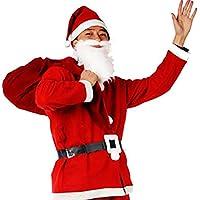 ROZZERMAN サンタクロース コスチューム 大人用 ワンピース コスプレ 衣装 セット クリスマスなら絶対これでしょ! (大人用セット)