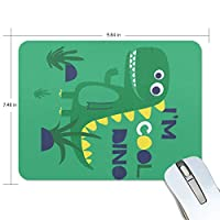 マウスパッド ゲーミング オフィス かっこいい恐竜 I'm Cool Dinosaur 防水 滑り止めゴム底 耐久性が良い 高級感 おしゃれ 疲労低減 自由な操作できる 厚い 25x19x0.5 cm