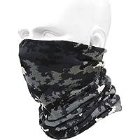 多機能 ロング丈 フェイスガード ネックウォーマー 防寒 防風 防塵 フェイスマスク ターバン バンダナ キャップ フェイス ヘッド ウェア 伸縮素材 BD-AHT-PL