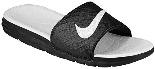 ナイキ Nike Benassi Solarsoft Slide 2 - レディース カジュアル Black/White US05.0 並行輸入品