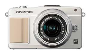 OLYMPUS ミラーレス一眼 PEN mini E-PM2 レンズキット ホワイト E-PM2 LKIT WHT