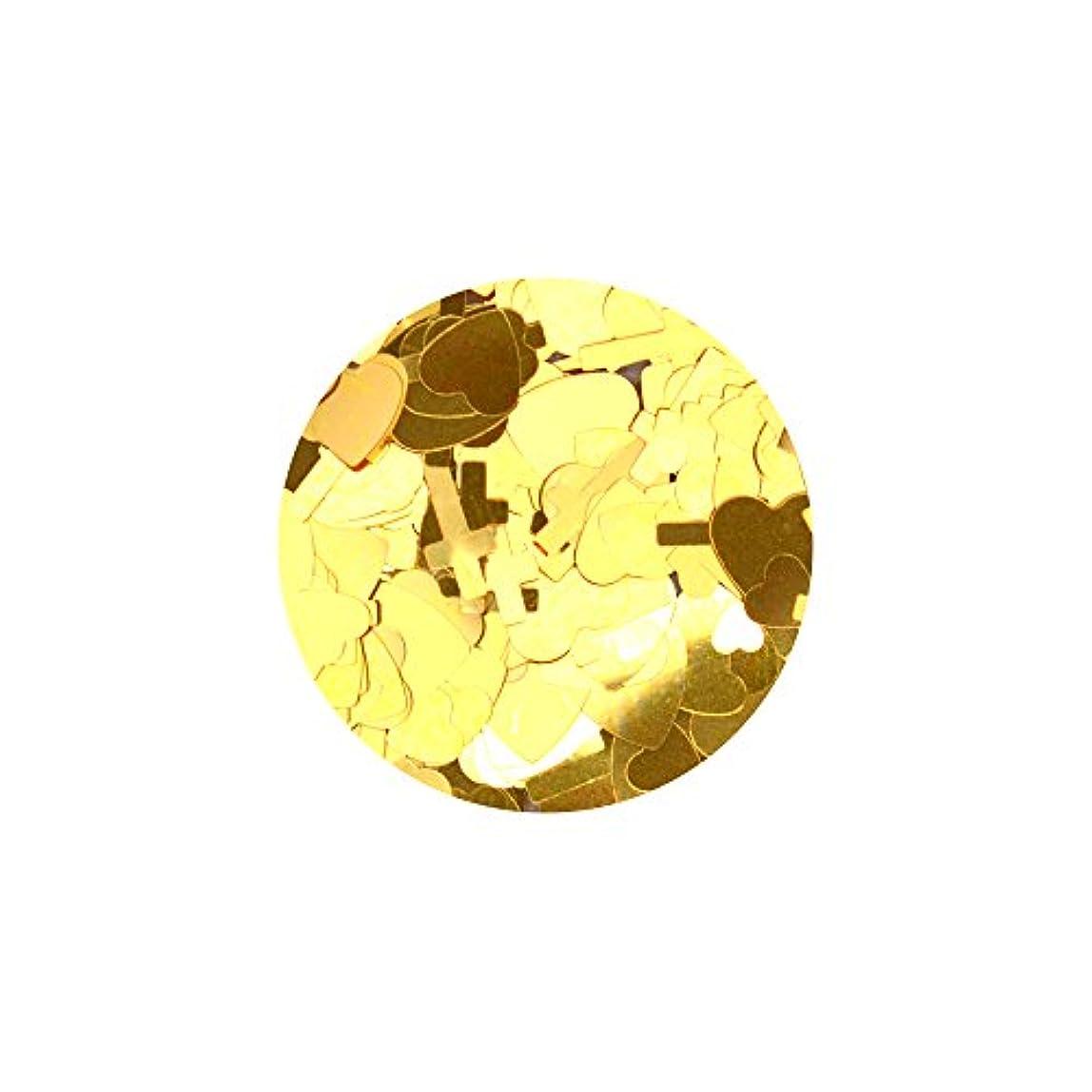 治療恐竜アクセサリーハートクロスミックスホロ【ゴールド】ホログラム