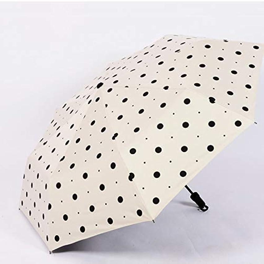 アンビエント炭素任命するHAPPY HOME 新しい女の子折りたたみ雨デュアルユース30%日傘傘ビニール抗UV三折り日傘