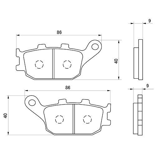デイトナ(DAYTONA) ブレーキパッド 赤パッド リア:CB1300SF/YZF-R1/GSR750/VERSYS1000 など 79802