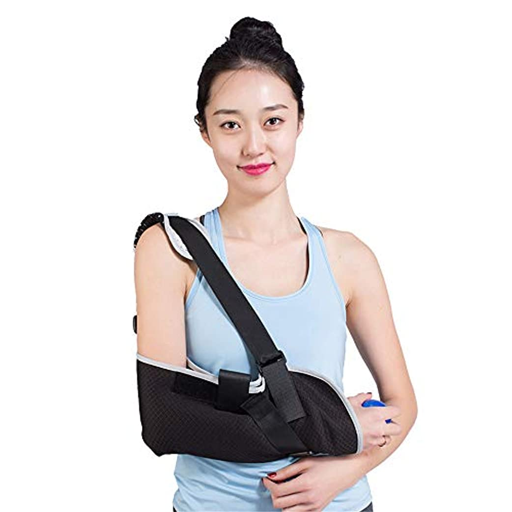 高める新着雄弁アームスリング、ショルダーイモビライザー、壊れたアームイモビライザー用手首肘サポート人間工学的、軽量、通気性メッシュ-男性と女性の両方に適合、フリーサイズ
