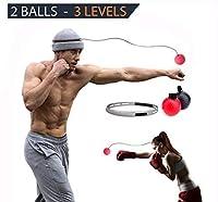 BV Reflex Punchingボール| Ideal Punching速度Traningボールfor Self DefenceボクシングMMA UFC and Other Combatスポーツ|異なる2ボール–3異なる難易度レベルfor imporving Dodgeフォーカス& Reflex