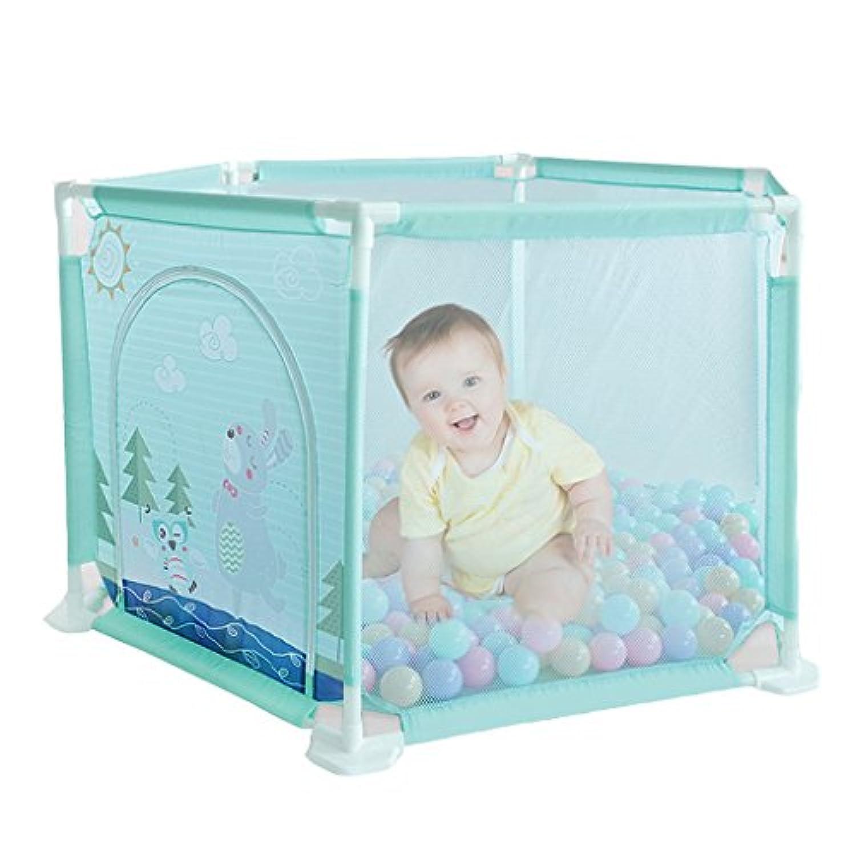 ベイビーフェンス子供の遊びフェンスの少年遊び場の女の子の家の安全活動センターベイビーフェンス海のボールプールのフェンス (Color : Blue, Size : 62 * 146 * 74cm)
