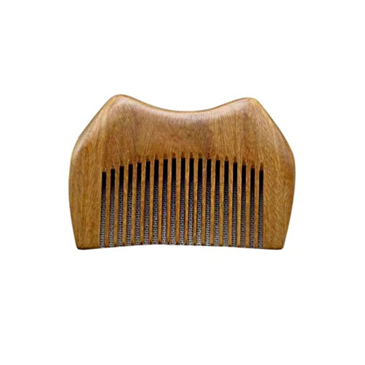 直立目指すつかの間WASAIO 静的グリーンサンダルウッド櫛手作り木製櫛櫛男性女性ウェットドライカーリーストレートヘアブラシブラシ手作り木製抗静的 (色 : Photo color)