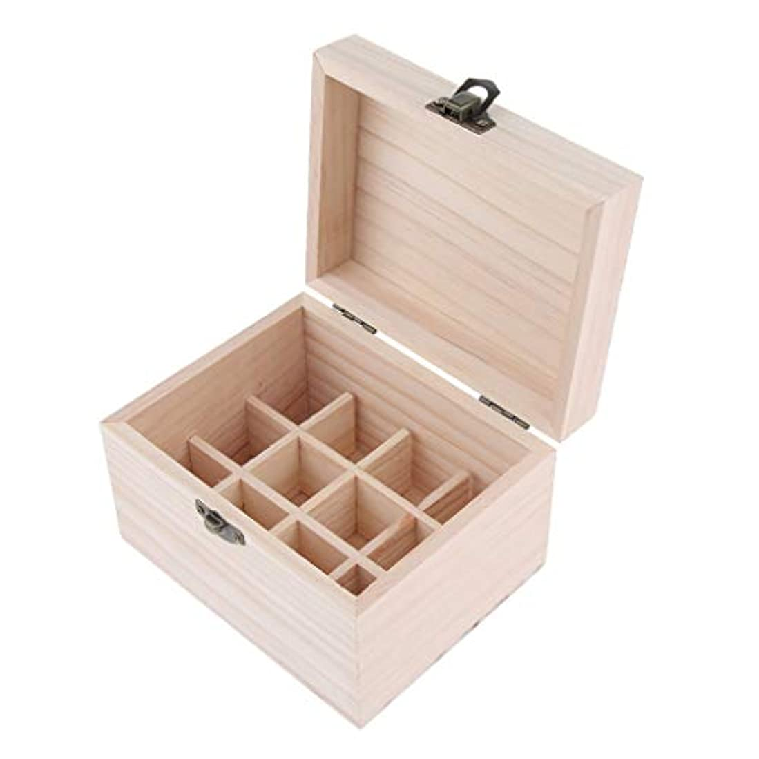 植物のカセット潤滑する木製 エッセンシャルオイボックス 精油ケース 香水瓶 仕切板可動 12本用