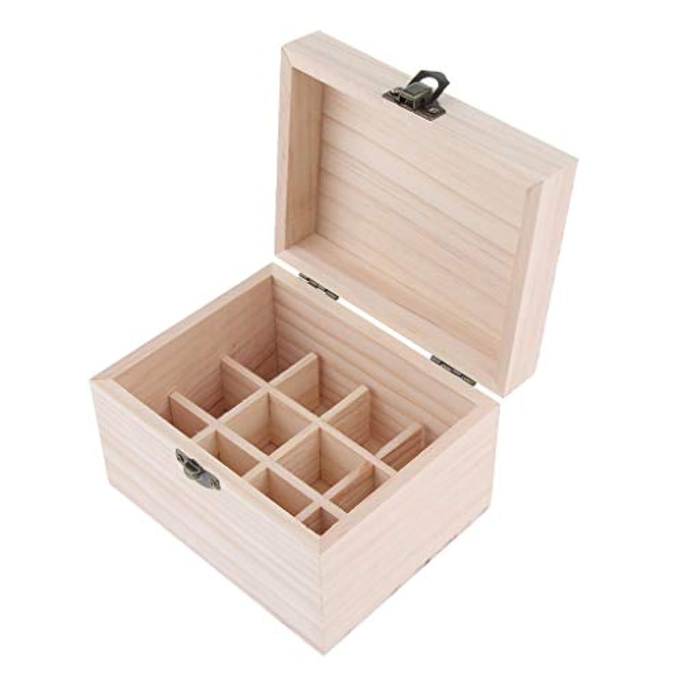 終わらせる想定するみ木製 エッセンシャルオイボックス 精油ケース 香水瓶 仕切板可動 12本用