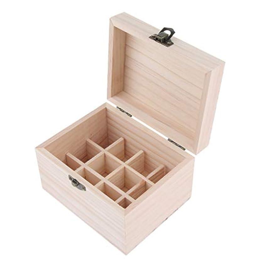 ノイズゴム抑制木製 エッセンシャルオイボックス 精油ケース 香水瓶 仕切板可動 12本用