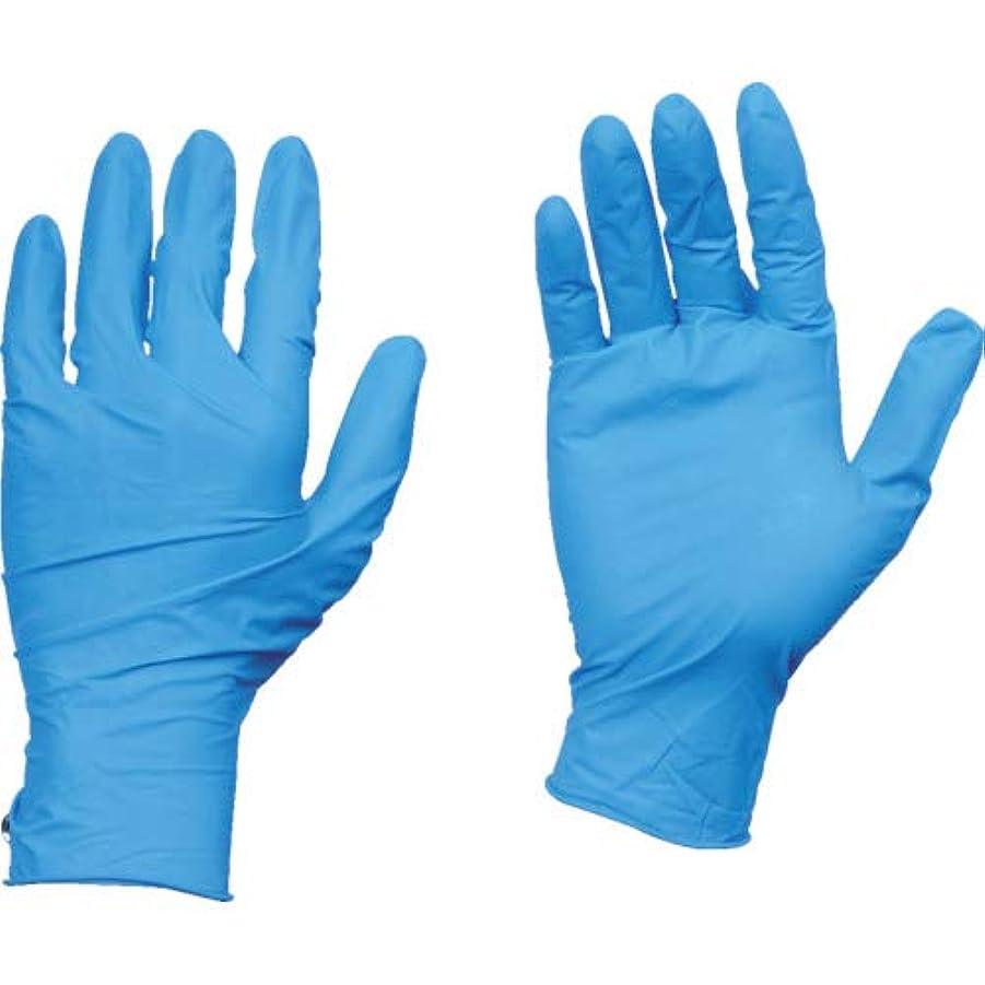 本体分布くぼみTRUSCO(トラスコ) 10箱入り 使い捨て天然ゴム手袋TGワーク 0.10 粉付青M TGPL10BM10C