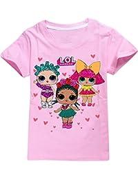 EMILYLE ガールズ Tシャツ 半袖 かわいい LOL サプサイズ Surprise Doll キッズ 子供 人気