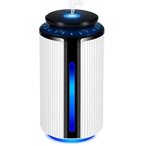 FYLINA 加湿器 卓上 オフィス usb 超音波式 超静音 省エネ 抗菌 900ml 大容量 24時間連続加湿 空焚き防止 安全 上部給水 便利 7色LEDライト搭載 心地よい