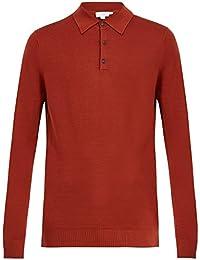 (サンスペル) Sunspel メンズ トップス ポロシャツ Long-sleeved wool polo shirt [並行輸入品]