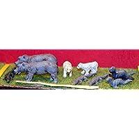 LangleyモデルCircus動物園カバBears Seals Crocodiles OOスケール未塗装キットz03