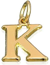 [ルビイ] イエローゴールド K18 Kイニシャル 貴金属ペンダントトップ(トップのみ) Mサイズ